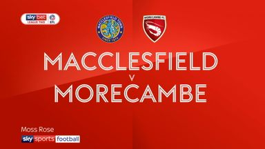 Macclesfield 0-1 Morecambe