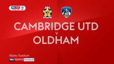 Cambridge Utd 1-2 Oldham