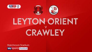 Leyton Orient 2-3 Crawley