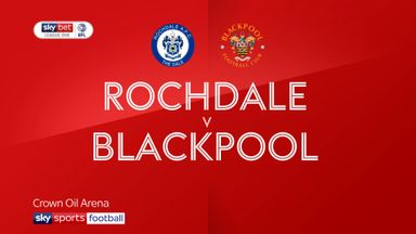 Rochdale 0-0 Blackpool