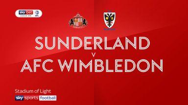 Sunderland 3-1 AFC Wimbledon