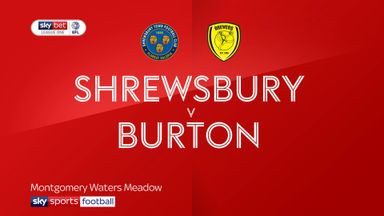 Shrewsbury 0-0 Burton