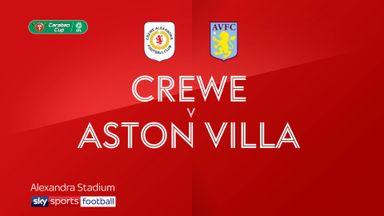 Crewe 1-6 Aston Villa