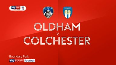 Oldham 0-1 Colchester