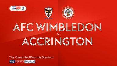 AFC Wimbledon 1-1 Accrington