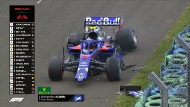 Big crash for Albon in practice