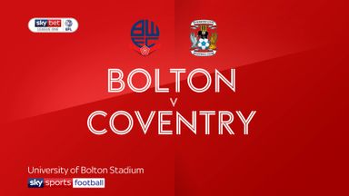 Bolton 0-0 Coventry