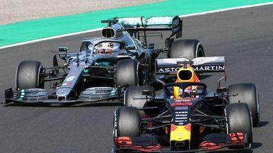 Hamilton passes Verstappen for win