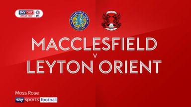 Macclesfield 3-0 Leyton Orient