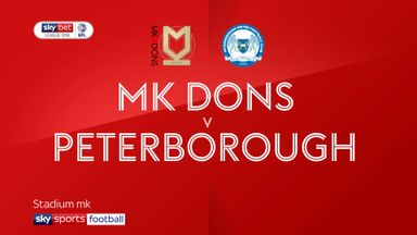 MK Dons 0-4 Peterborough