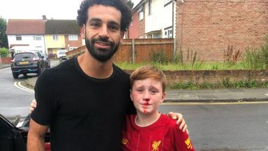 'What a crazy way to meet Salah!'