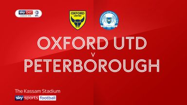 Oxford Utd 1-0 Peterborough