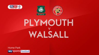 Plymouth 3-0 Walsall