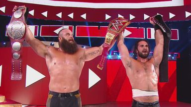 Rollins, Strowman win Raw tag titles!