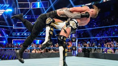 Reigns flips Murphy with spear