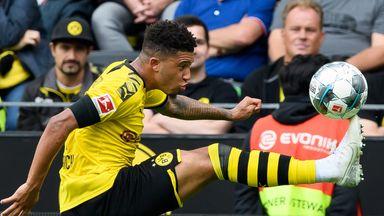 Sancho scores in Dortmund rout