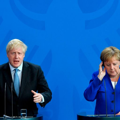 LIVE: 'Stop Brexit' cries as Johnson meets Merkel in Berlin