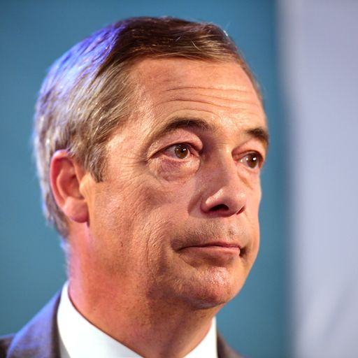 Police investigate Nigel Farage's vow to 'take knife to pen pushers'