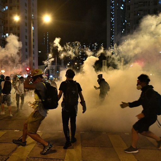 Hong Kong protests: Shoppers and tourists in one street and a riot in the next