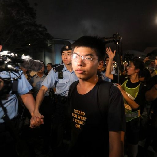 Well-known activist Joshua Wong 'arrested', say protesters