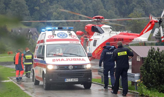 Tatra mountains: Five dead after lightning strike in Poland and Slovakia