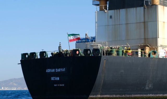 Iran warns US against recapturing oil tanker as it leaves Gibraltar