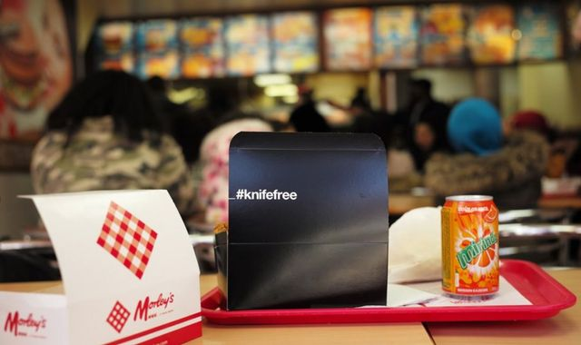 Home Office under fire over 'racist' #knifefree chicken boxes