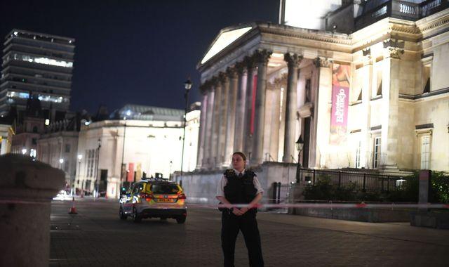 Man stabbed in Trafalgar Square and crime scene set up, police say