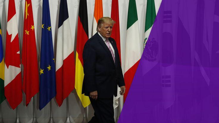 President Donald Trump at the G20 summit in Osaka, Japan