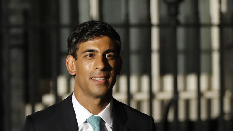 Britain's newly appointed Chief Secretary to the Treasury Rishi Sunak leaves 10 Downing Street in London on July 24, 2019. - Boris Johnson took charge as Britain's prime minister on Wednesday, on a mission to deliver Brexit by October 31 with or without a deal. (Photo by Tolga AKMEN / AFP) (Photo credit should read TOLGA AKMEN/AFP/Getty Images)