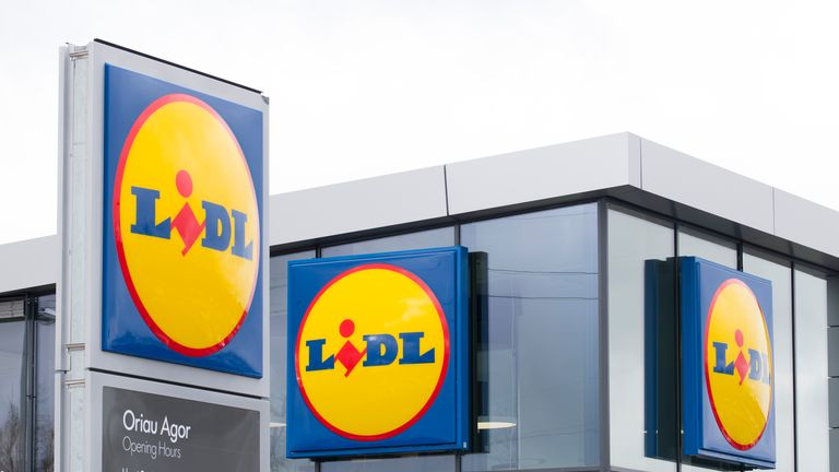 CARDIFF, UNITED KINGDOM - MARCH 28: Lidl store sign seen on March 28, 2018 in Cardiff, United Kingdom. Lidl's first supermarket in the UK opened in 1994 - it now has over 700 stores in the UK.(Photo by Matthew Horwood/Getty Images)