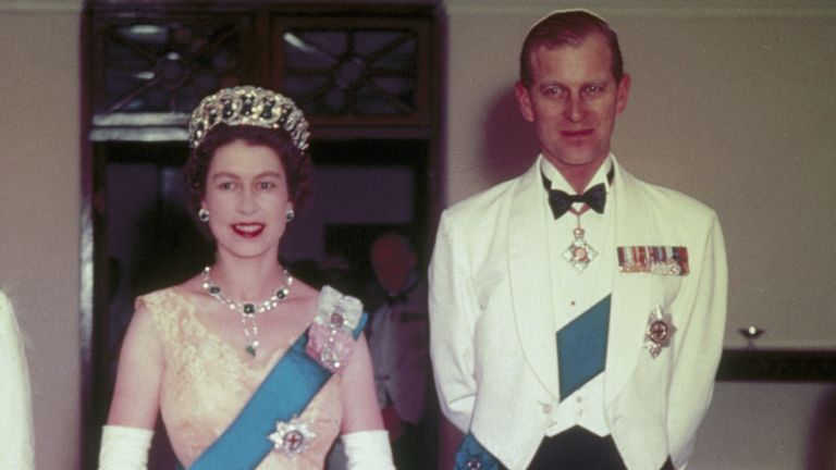 Queen Elizabeth II and Prince Philip in Australia, 1954. (Photo by Hulton Archive/Getty Images)