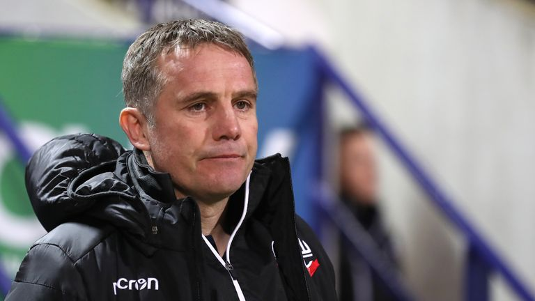 File photo dated 21-01-2019 of Bolton Wanderers manager Phil Parkinson.