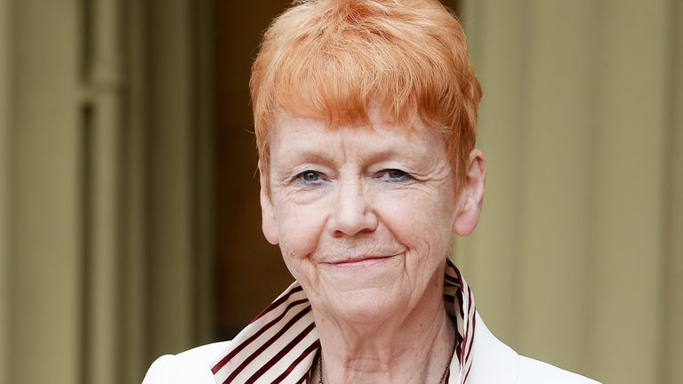 LONDON, ENGLAND - MAY 19:  Dame Vera Baird poses after she was presented with the Insignia of Dame Commander of the Order of the British Empire by the Prince of Wales during an Investiture ceremony at Buckingham Palace on May 19, 2017 in London, England. (Photo by Photo John Stillwell - WPA Pool/Getty Images)
