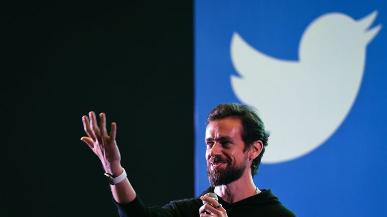 Twitter CEO and co-founder Jack Dorsey gestures while interacting with students at the Indian Institute of Technology (IIT) in New Delhi on November 12, 2018. - Dorsey hosted a town hall meeting with university students on his visit to the Indian capital New Delhi. (Photo by Prakash SINGH / AFP) (Photo credit should read PRAKASH SINGH/AFP/Getty Images)