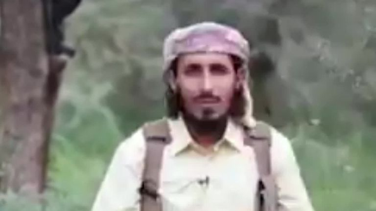The unidentified militantrecording the clip