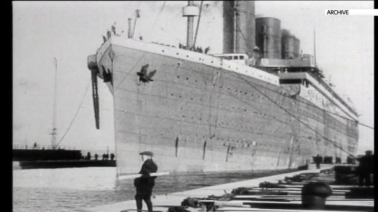 Archive photo the Titanic