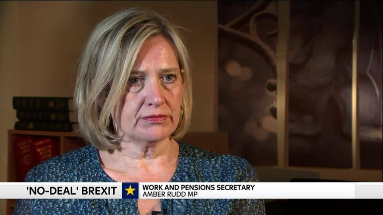 Work and Pensions Secretary Amber Rudd talks about unemployment in the UK