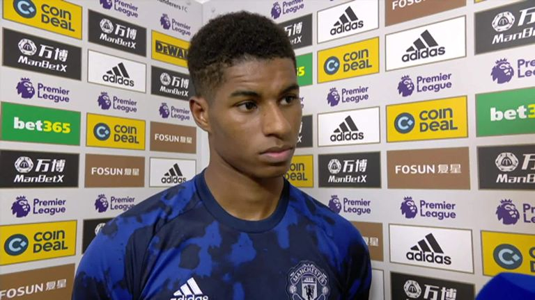 Rashford appeared unconcerned by Paul Pogba taking the penalty