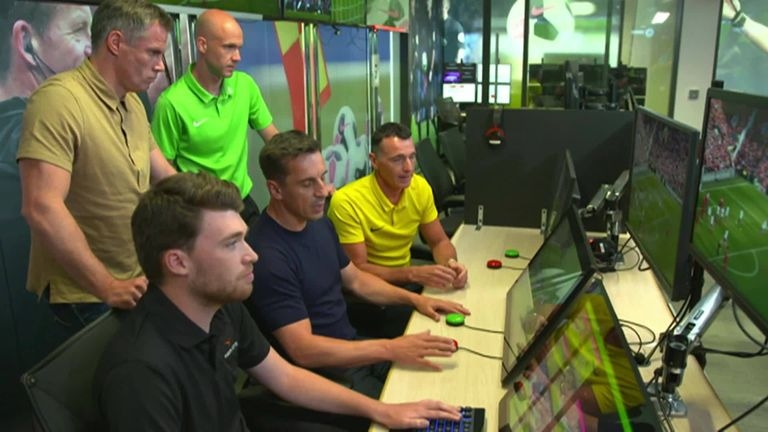 Gary Neville and Jamie Carragher take a look at how VAR will be used in the Premier League for the first time this season
