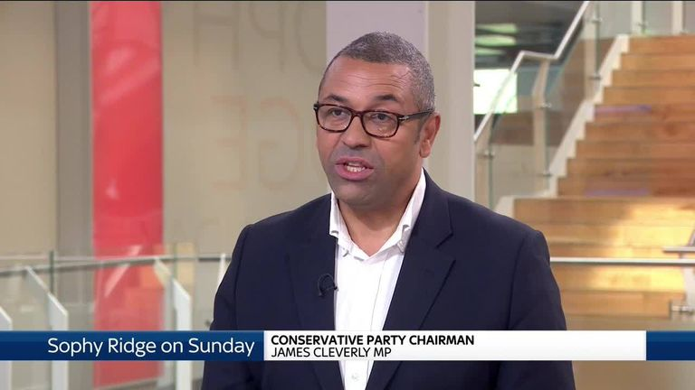 Conservative Party Chairman James Cleverly