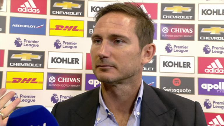 Frank Lampard admitted his side made four mistakes against Manchester United