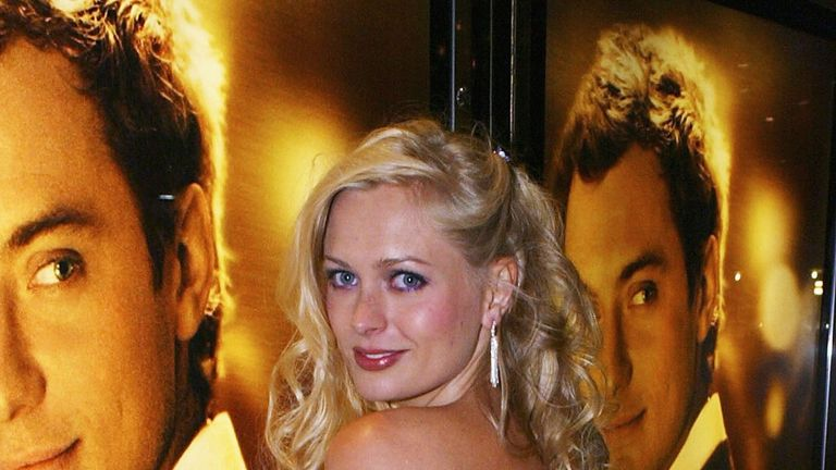 Anouska de Georgiou at the world premiere of Alfie in London's Leicester Square in 2004