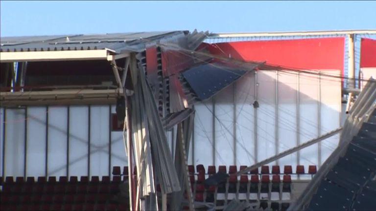 Image result for images of AZ Alkmaar stadium roof collapse