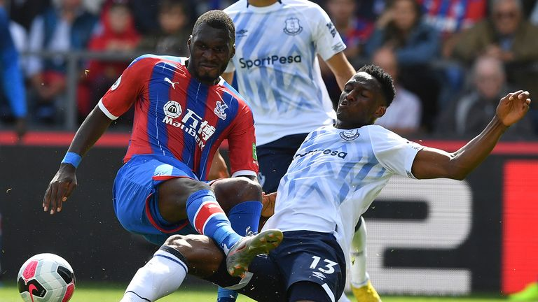 Highlights from Crystal Palace's 0-0 draw with Everton in the Premier League