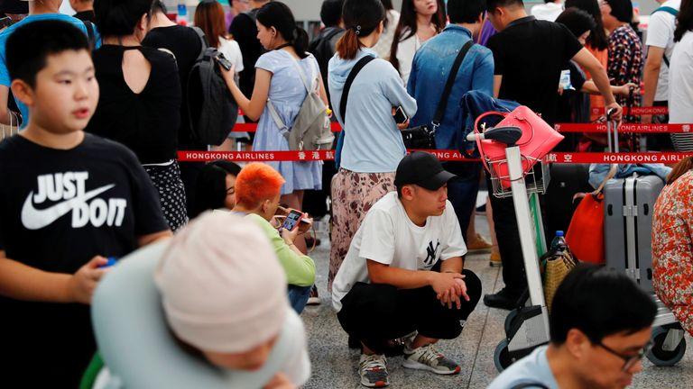Hong Kong protest and strike brings city to a standstill
