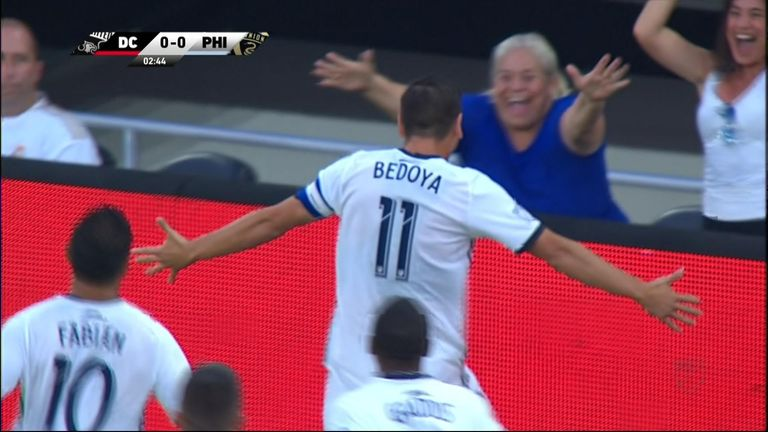 Philadelphia Union captain Alejandro Bedoya brought attention to the mass shootings in Ohio and Texas when he called out Congress after scoring for his team in Washington DC.