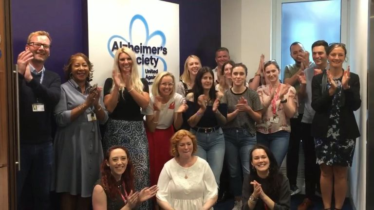 Alzheimer's Society's birthday greetings for Dame Barbara Windsor