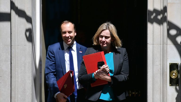 Matt Hancock and Amber Rudd