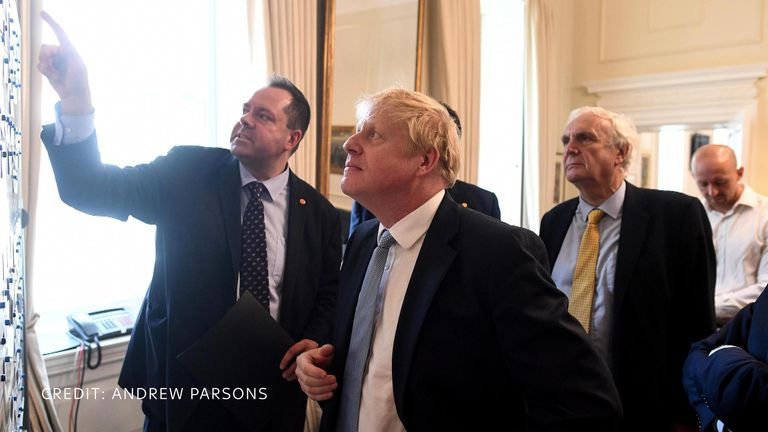 Boris Johnson is thrown into work. Pic: Andrew Parsons